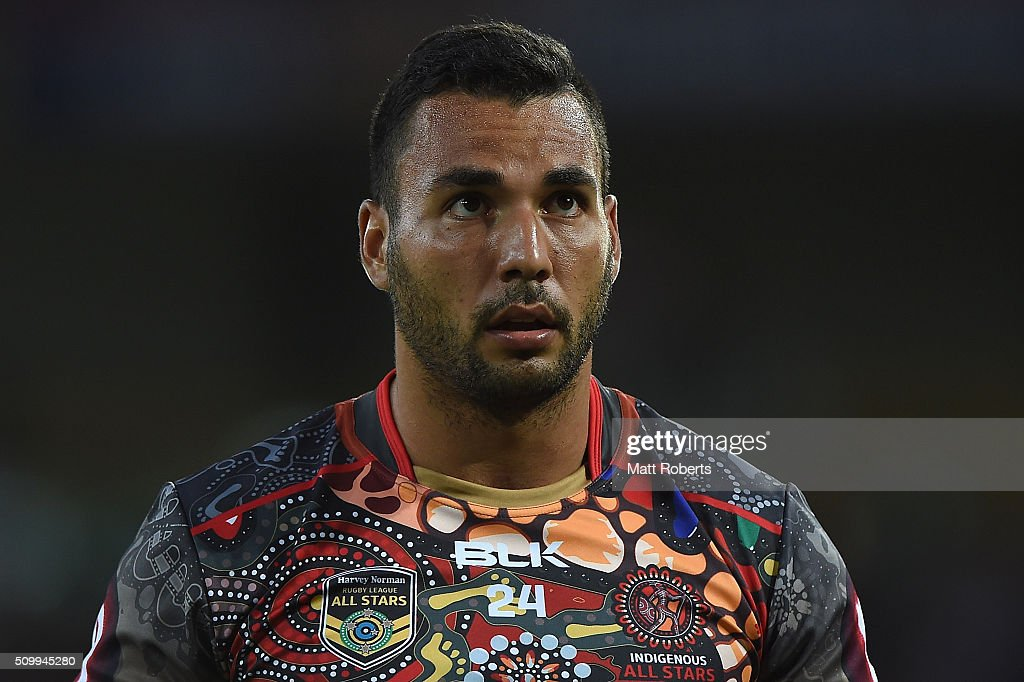 Ryan James of the Indigenous All Stars looks on before the NRL match between the Indigenous All-Stars and the World All-Stars at Suncorp Stadium on February 13, 2016 in Brisbane, Australia.