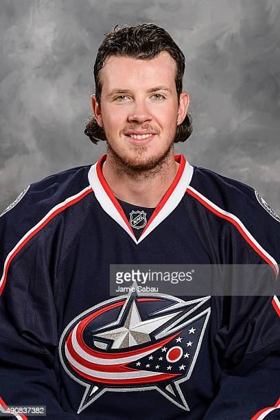 Ryan Johansen of the Columbus Blue Jackets poses for his official headshot for the 20152016 season at Ohio Health on September 17 2015 in Columbus...