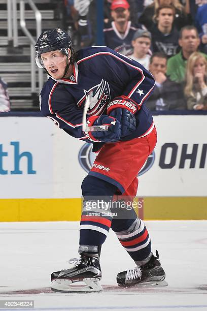 Ryan Johansen of the Columbus Blue Jackets skates against the New York Rangers on October 9 2015 at Nationwide Arena in Columbus Ohio