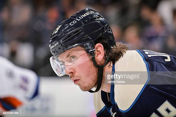 Ryan Johansen of the Columbus Blue Jackets skates against the New York Islanders on October 20 2015 at Nationwide Arena in Columbus Ohio