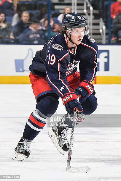 Ryan Johansen of the Columbus Blue Jackets skates against the Toronto Maple Leafs on April 8 2015 at Nationwide Arena in Columbus Ohio