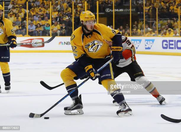 Ryan Johansen of the Nashville Predators skates against the Anaheim Ducks in Game Four of the Western Conference Final during the 2017 NHL Stanley...