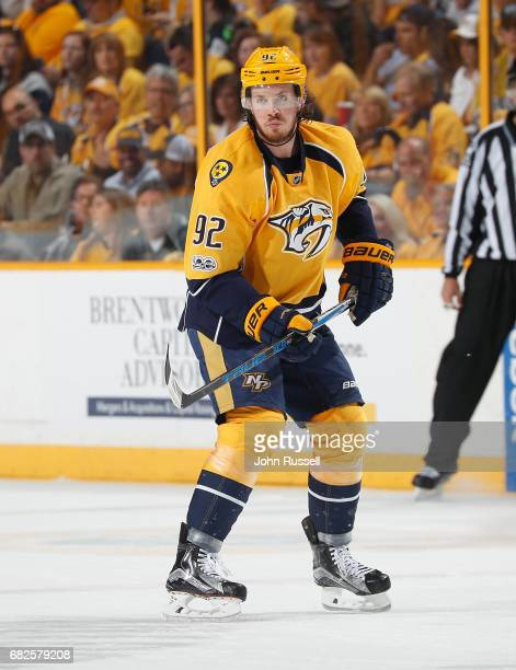 Ryan Johansen of the Nashville Predators skates against the St Louis Blues in Game Six of the Western Conference Second Round during the 2017 NHL...