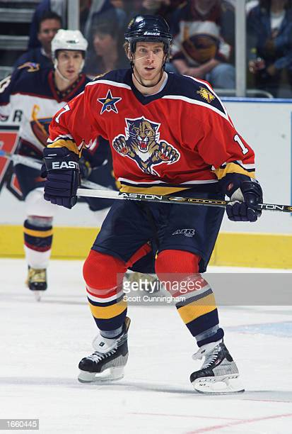 Ryan Johnson of the Florida Panthers skates on the ice during the NHL game against the Atlanta Thrashers at Philips Arena on October 12 in Atlanta...