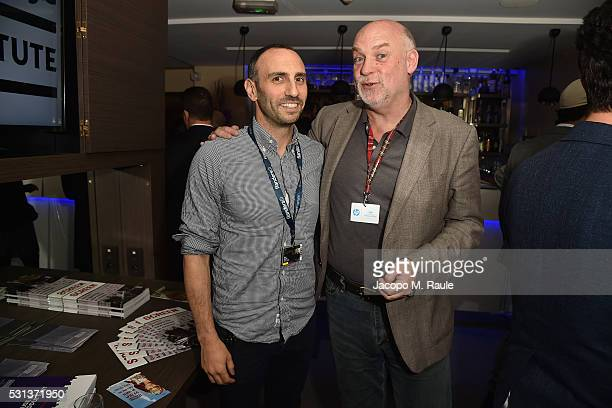Ryan Kampe of Visit Films and Mark Adams of Edinburgh International Film Festival attend the Doha Film Institute Reception at the annual 69th Cannes...