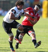 Ryan Kankowski of Sharks on the attack during the Vodacom Cup quarter final match between Sharks XV and MTN Golden Lions at Kings Park on May 03 2013...