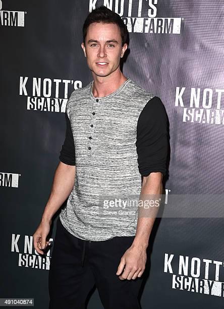 Ryan Kelley arrives at the Knott's Scary Farm Black Carpet at Knott's Berry Farm on October 1 2015 in Buena Park California