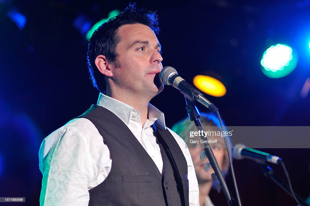 Ryan Kelly of Celtic Thunder performs during an unplugged concert benefitting Hurricane Sandy victims at Sullivan Hall on December 3, 2012 in New York City.