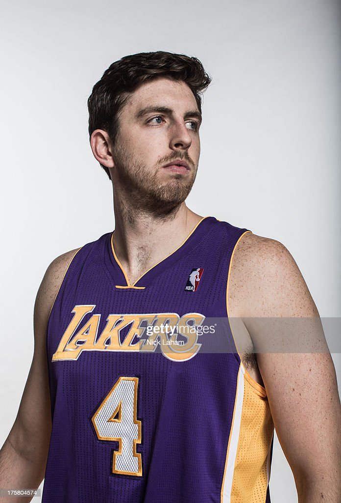 Ryan Kelly #4 of the Los Angeles Lakers poses for a portrait during the 2013 NBA rookie photo shoot at the MSG Training Center on August 6, 2013 in Greenburgh, New York.