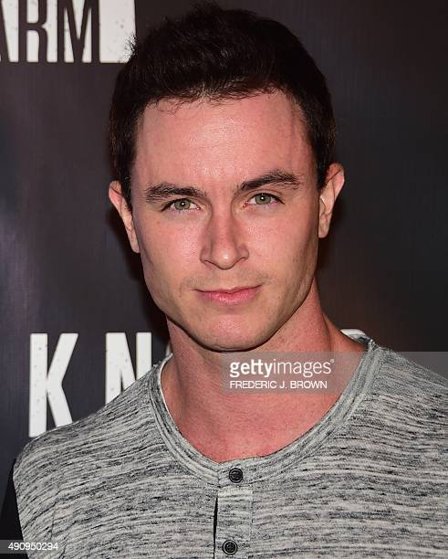 Ryan Kelly poses on arrival at the Knott's Scary Farm Black Carpet event in Buena Park California on October 1 2015 AFP PHOTO / FREDERIC J BROWN