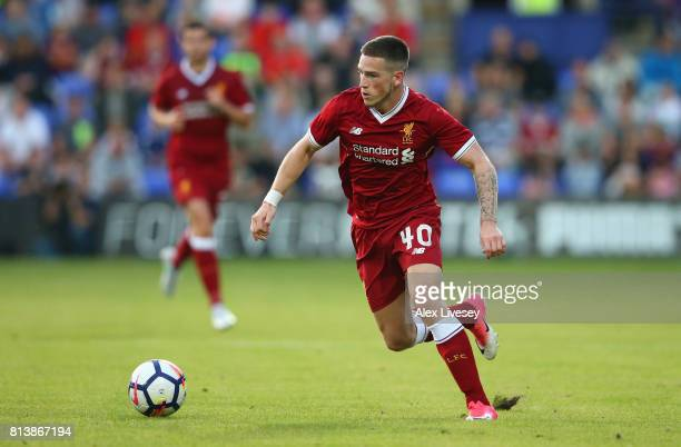 Ryan Kent of Liverpool during a preseason friendly match between Tranmere Rovers and Liverpool at Prenton Park on July 12 2017 in Birkenhead England
