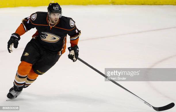 Ryan Kesler of the Anaheim Ducks plays in a game against the Detroit Red Wings at Honda Center on February 23 2015 in Anaheim California
