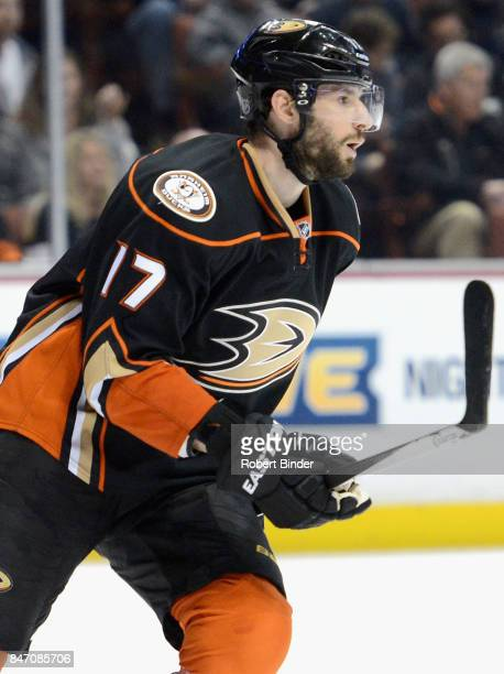 Ryan Kesler of the Anaheim Ducks plays in the game against the Colorado Avalanche at Honda Center on March 20 2015 in Anaheim California
