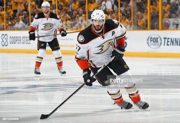 Ryan Kesler of the Anaheim Ducks skates against the Nashville Predators in Game Four of the Western Conference Final during the 2017 NHL Stanley Cup...