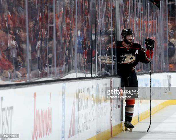 Ryan Kesler of the Anaheim Ducks steps out of the penalty box during the game against the Nashville Predators in Game Five of the Western Conference...