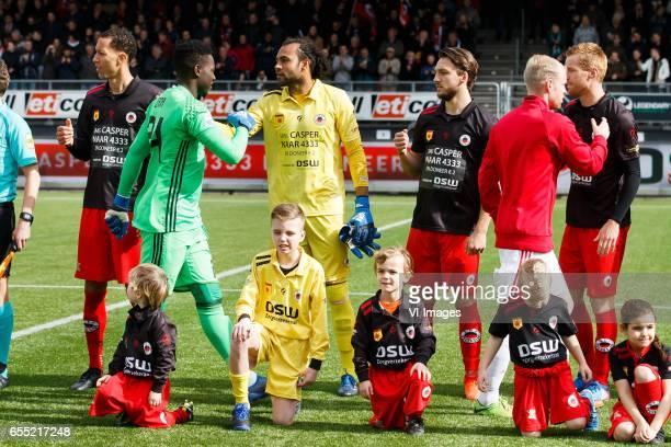 Ryan Koolwijk of Excelsior goalkeeper Andre Onana of Ajax goalkeeper Warner Hahn of Excelsior Milan Massop of Excelsior Davy Klaassen of Ajax Mike...