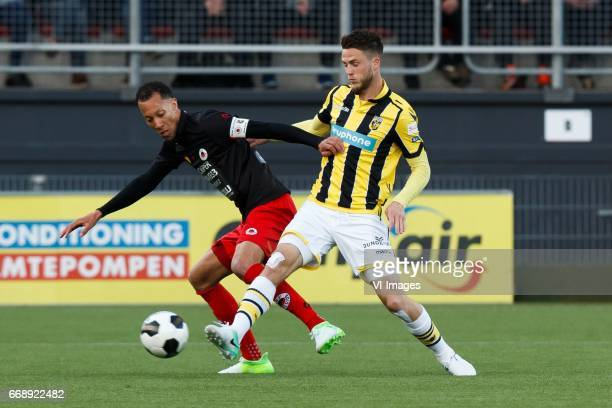 Ryan Koolwijk of Excelsior Matt Miazga of Vitesseduring the Dutch Eredivisie match between sbv Excelsior Rotterdam and Vitesse Arnhem at Woudenstein...