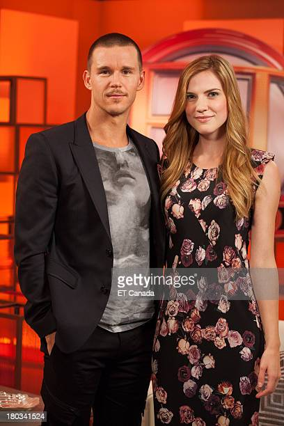 Ryan Kwanten and Sara Canning visit the ET Canada Festival Central Lounge at the 2013 Toronto International Film Festival on September 11 2013 in...
