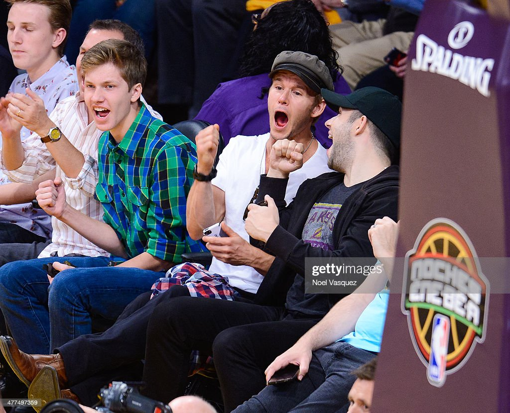 Ryan Kwanten attends a basketball game between the Oklahoma City Thunder and the Los Angeles Lakers at Staples Center on March 9 2014 in Los Angeles...