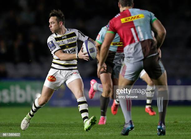 Ryan Lamb of La Rochelle during the European Rugby Champions Cup match between Harlequins and La Rochelle at Twickenham Stoop on October 14 2017 in...