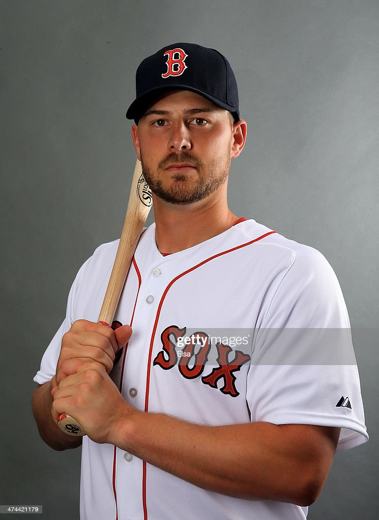 Ryan Lavarnway #20 of the Boston Red Sox poses for a portrait during Boston Red Sox Photo Day on February 23, 2014 at JetBlue Park in Fort Myers, Florida.