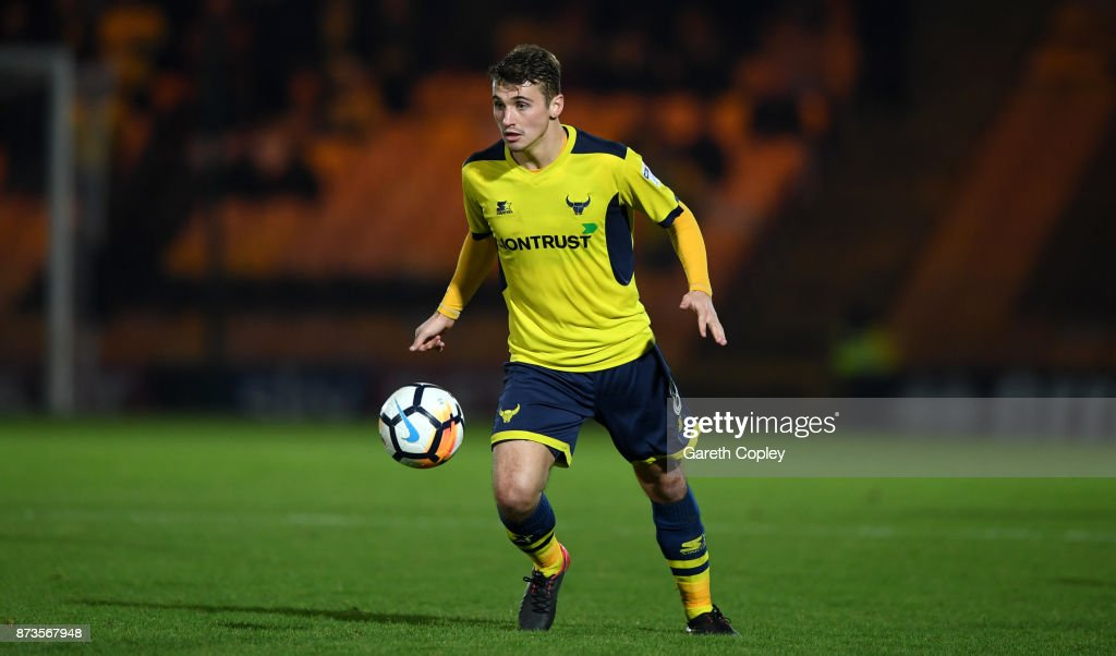 Ryan Ledson of Oxford United during The Emirates FA Cup First Round match between Port Vale and Oxford United at Vale Park on November 3, 2017 in Burslem, England.