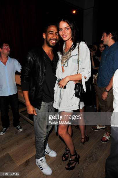 Ryan Leslie and Nicole Trunfio attend Vapiano hosts the New York Premiere of THE EXTRA MAN red carpet arrivals and afterparty at Village East Cinema...
