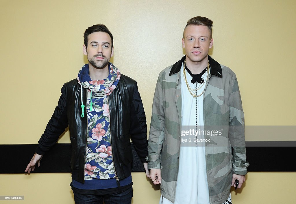 <a gi-track='captionPersonalityLinkClicked' href=/galleries/search?phrase=Ryan+Lewis+-+Musician&family=editorial&specificpeople=10584562 ng-click='$event.stopPropagation()'>Ryan Lewis</a> and <a gi-track='captionPersonalityLinkClicked' href=/galleries/search?phrase=Macklemore&family=editorial&specificpeople=7639427 ng-click='$event.stopPropagation()'>Macklemore</a> backstage at BET's '106 & Park' at BET Studios on May 20, 2013 in New York City.