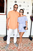 Ryan Lewis and Natalie Lewis Dita attend the Douglas Elliman Hamptons Magazine Celebrate Summer at Campbell Stables on July 22 2016 in Bridgehampton...
