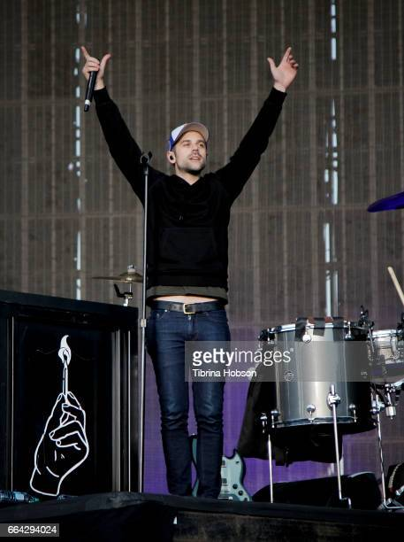 Ryan Lewis of Macklemore and Ryan Lewis perform at the March Madness Music Festival on April 2 2017 in Margaret T Hance Park in Phoenix Arizona