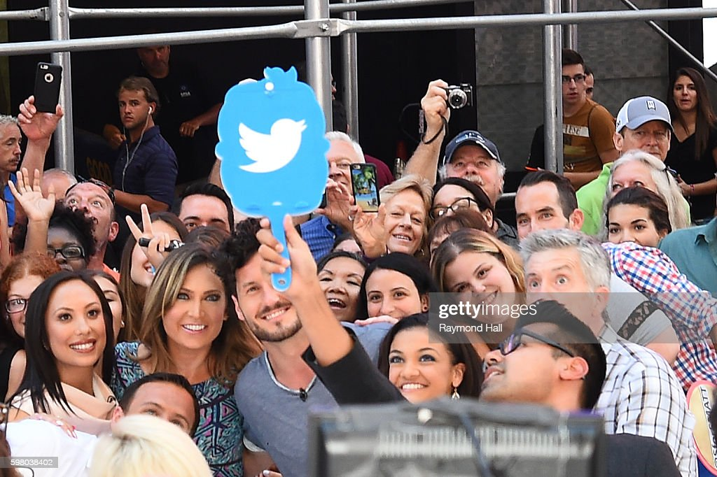 Ryan Lochte and Cheryl Burke are seen on the set of 'Good Morning America' on August 29 2016 in New York City