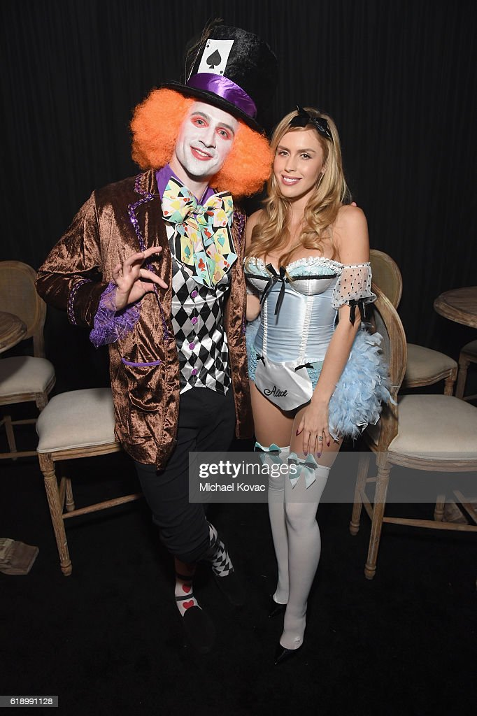 Ryan Lochte and Kayla Rae Reid attend the Casamigos Halloween Party at a private residence on October 28, 2016 in Beverly Hills, California.