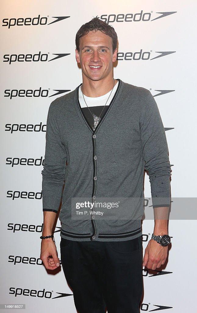 Ryan Lochte attends the Speedo Athlete Celebration at Kensington Roof Gardens on August 6 2012 in London England