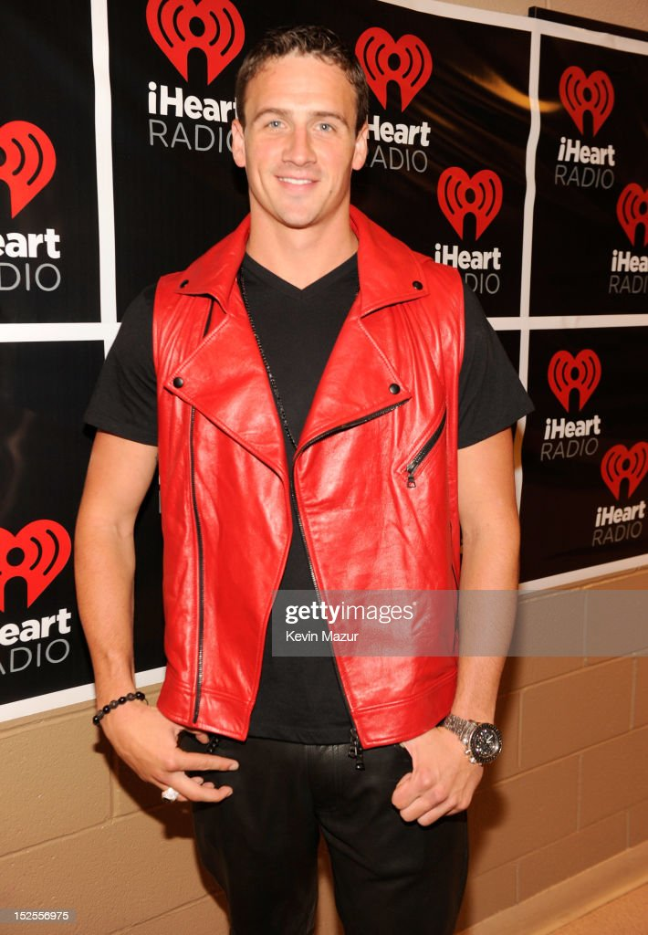 Ryan Lochte backstage during the 2012 iHeartRadio Music Festival at MGM Grand Garden Arena on September 21, 2012 in Las Vegas, Nevada.