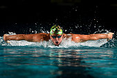 Ryan Lochte competes in the preliminary heats of the men's 400m IM during the 2016 Arena Pro Swim Series at Charlotte swim meet at Mecklenburg County...