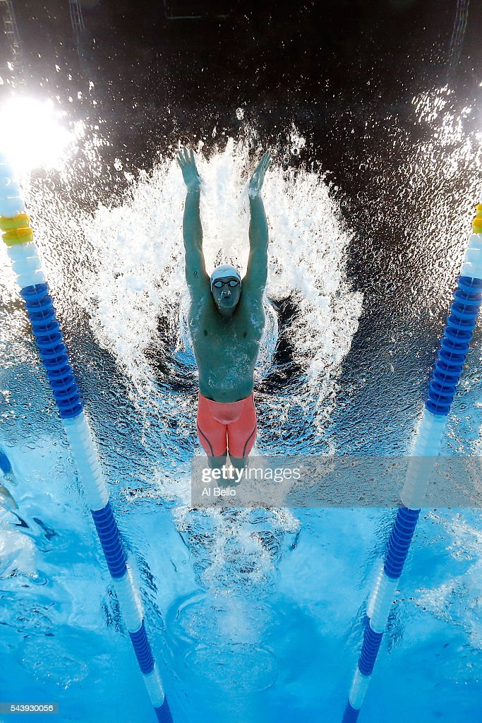 <a gi-track='captionPersonalityLinkClicked' href=/galleries/search?phrase=Ryan+Lochte&family=editorial&specificpeople=182557 ng-click='$event.stopPropagation()'>Ryan Lochte</a> of the United States competes in a heat for the Men's 200 Meter Individual Medley during Day Five of the 2016 U.S. Olympic Team Swimming Trials at CenturyLink Center on June 30, 2016 in Omaha, Nebraska.