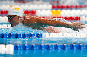 Ryan Lochte of the United States competes in a preliminary heat for the Men's 400 Meter Individual Medley during Day One of the 2016 US Olympic Team...