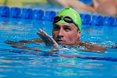 Ryan Lochte of the United States reats after competing in a semifinal heat for the Men's 200 Meter Individual Medley during Day Five of the 2016 US...