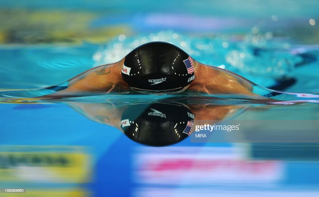 Ryan Lochte of the US competes in the men's 100m individual medley during the FINA World Short Course Swimming Championships in Istanbul on December 15, 2012.