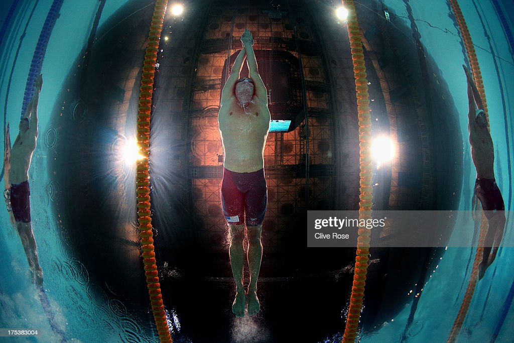 <a gi-track='captionPersonalityLinkClicked' href=/galleries/search?phrase=Ryan+Lochte&family=editorial&specificpeople=182557 ng-click='$event.stopPropagation()'>Ryan Lochte</a> of the USA competes during the Swimming Men's Butterfly 100m Final on day fifteen of the 15th FINA World Championships at Palau Sant Jordi on August 3, 2013 in Barcelona, Spain.