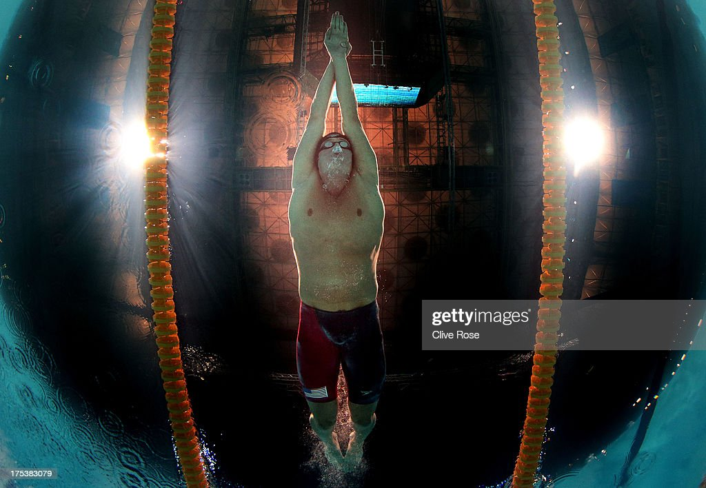 Ryan Lochte of the USA competes during the Swimming Men's Butterfly 100m Final on day fifteen of the 15th FINA World Championships at Palau Sant Jordi on August 3, 2013 in Barcelona, Spain.
