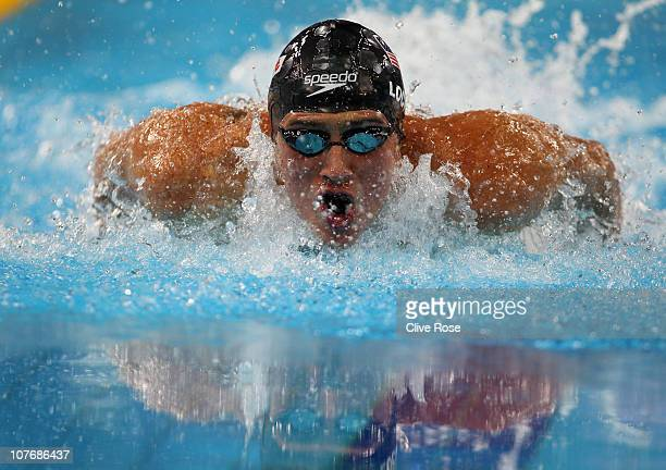 Ryan Lochte of USA competes in the Men's 100m Individual Medley on day five of the 10th FINA World Swimming Championships at the Hamdan bin Mohammed...
