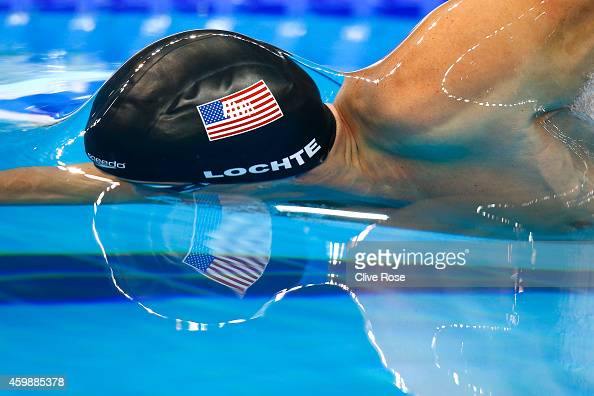Ryan Lochte of USA competes in the Men's 200m Freestyle Final on day one of the 12th FINA World Swimming Championships at the Hamad Aquatic Centre on...