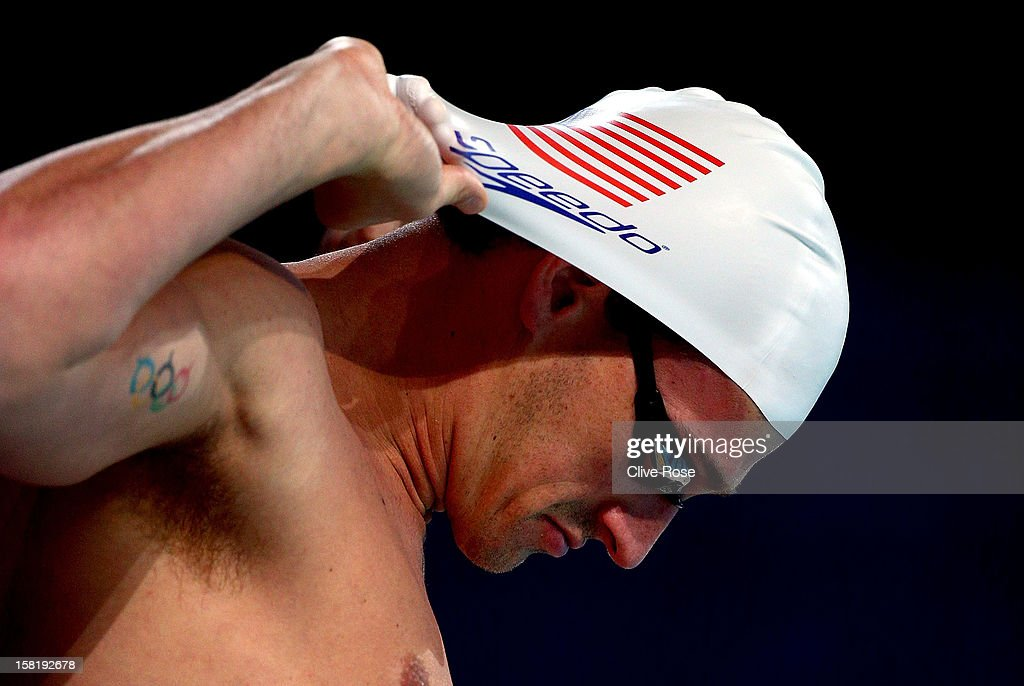 <a gi-track='captionPersonalityLinkClicked' href=/galleries/search?phrase=Ryan+Lochte&family=editorial&specificpeople=182557 ng-click='$event.stopPropagation()'>Ryan Lochte</a> of USA prepares to swim during a training session prior to the FINA World Short Course Swimming Championships on December 11, 2012 in Istanbul, Turkey.