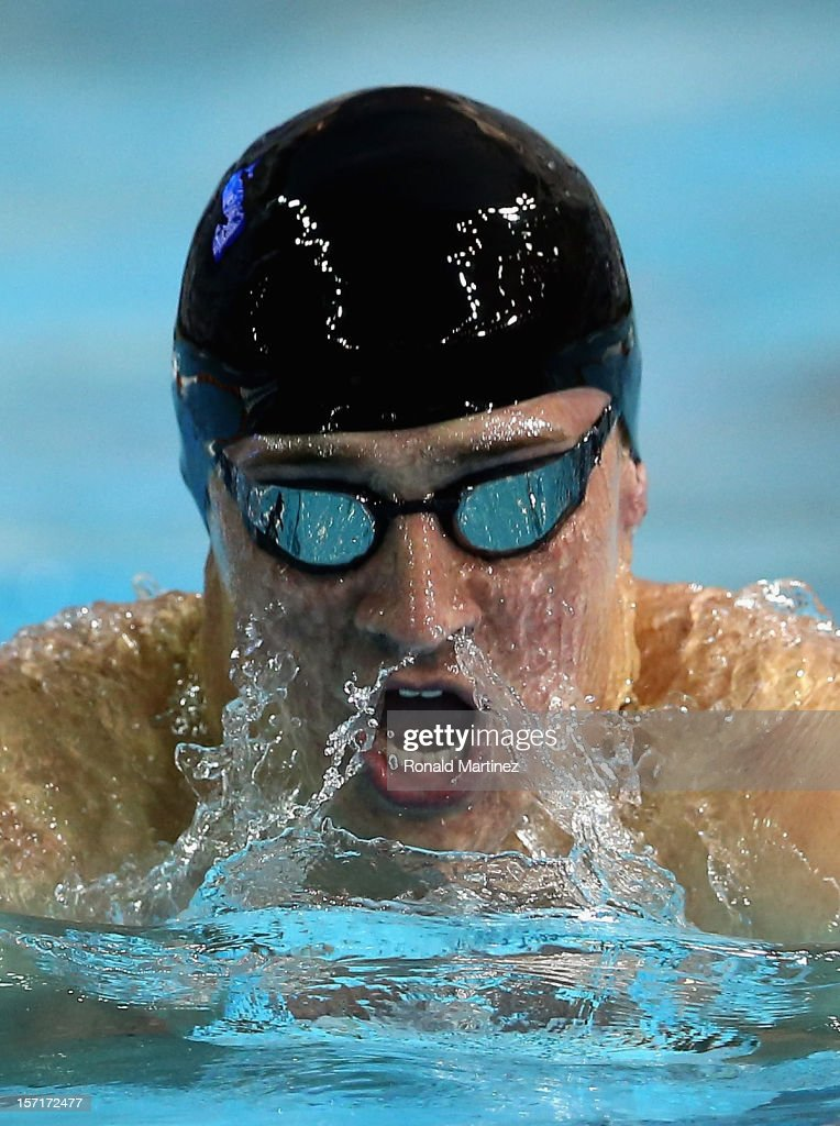 Ryan Lochte swims in the Men's 200 Yard Individual Medley during day one of the 2012 AT&T Winter National Championships on November 29, 2012 at the Lee and Joe Jamail Texas Swimming Center in Austin, Texas.