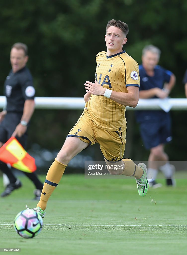 Ryan Loft of Tottenham during the Premier League 2 match between Derby County and Tottenham Hotspur at Derby County Training Ground on August 26 2016...