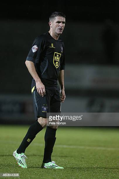 Ryan Lowe of Bury in action during the Sky Bet League Two match between Northampton Town and Bury at Sixfields Stadium on December 26 2014 in...