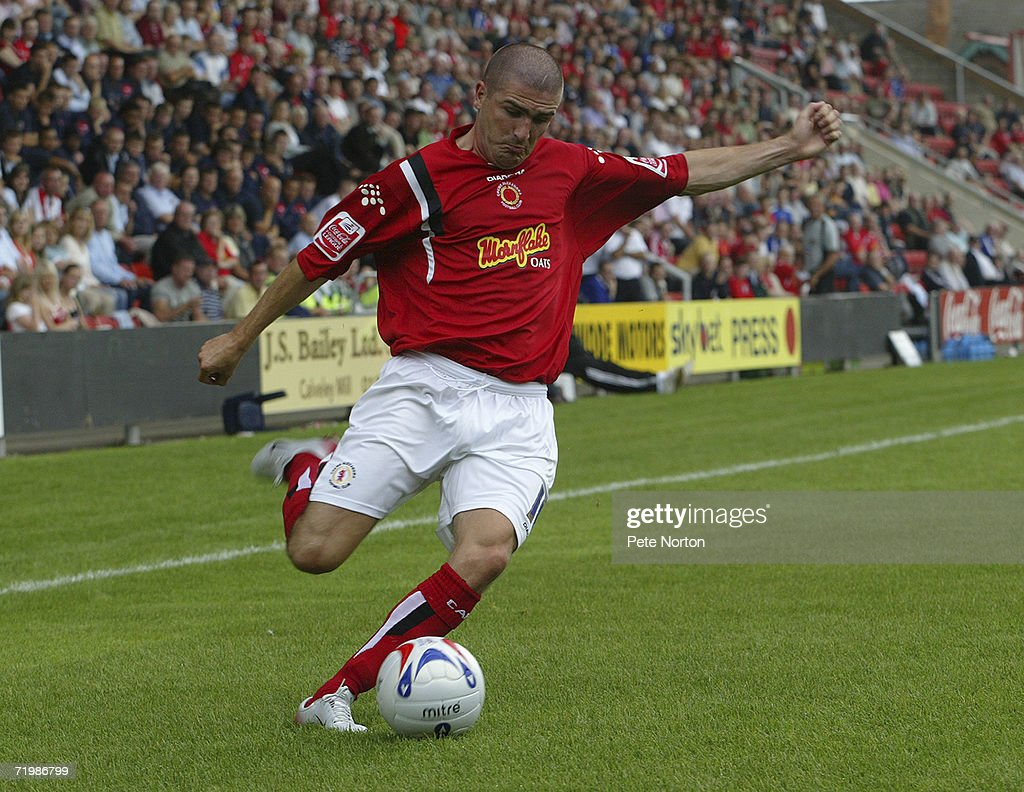 Ryan Lowe of Crewe Alexandra in action during the Coca Cola League One match between Crewe Alexandra and Northampton Town at Gresty Road on August 5...