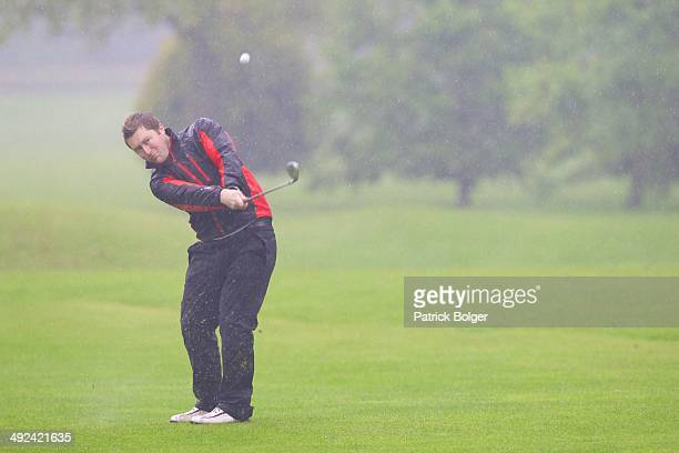 Ryan Madigan in action during the Powerade PGA Assistants Championship Irish Regional Qualifiers at County Meath on May 20 2014 in Trim Ireland