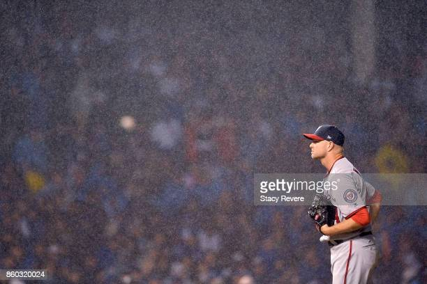 Ryan Madson of the Washington Nationals pitches in the eighth inning during game four of the National League Division Series against the Chicago Cubs...